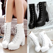 Black and white cosplay Martin boots YV2488