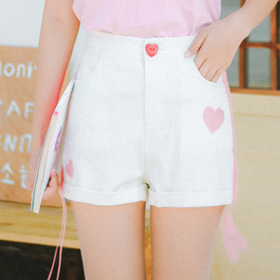 Love Ribbon Casual Shorts YV40067