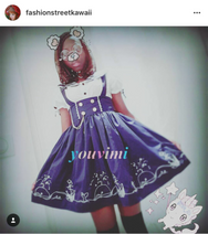 Review for HARAJUKU NAVY WIND GIRL ACTRESS SEA HIGH WAIST DRESS YV1129