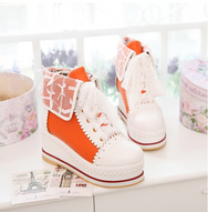 Sweet cute lace short boots shoes YV2159