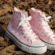 Candy strawberry hand painted shoes YV2198