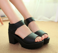 Black/White platform shoes YV2201