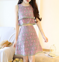 Japanese fake two pieces of sweet A word skirt YV2250