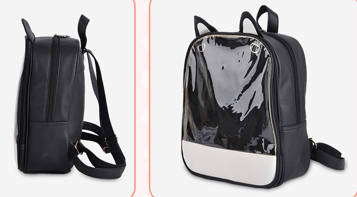Harajuku Transparent Kitty Ears Backpack YV2302