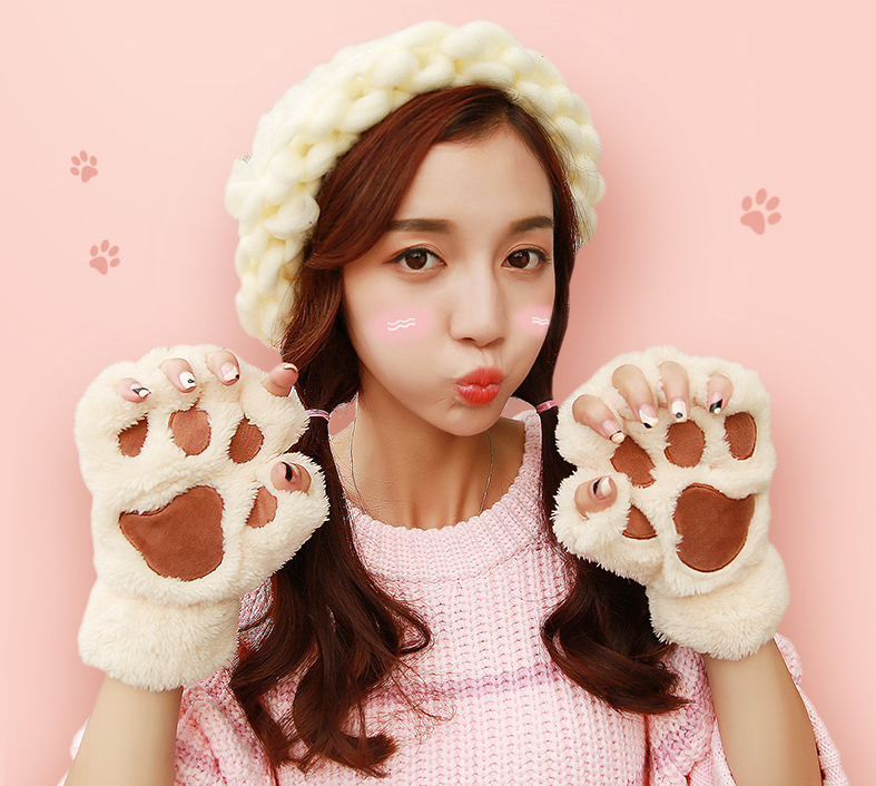 Student cute cat paw gloves  YV2304