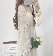 Korean lace unlined upper sleeve cardigan YV2310