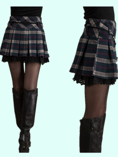 Korean student winter woolen skirt YV2329