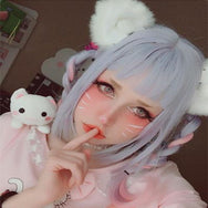 Review for Japanese  fashion cutekawaii cosplay wigs YV5069