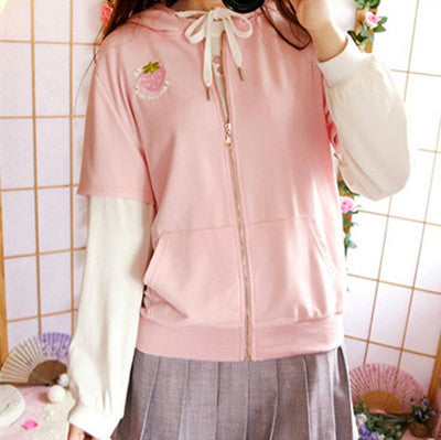 Review for Strawberry bunny softball jacket YV17046