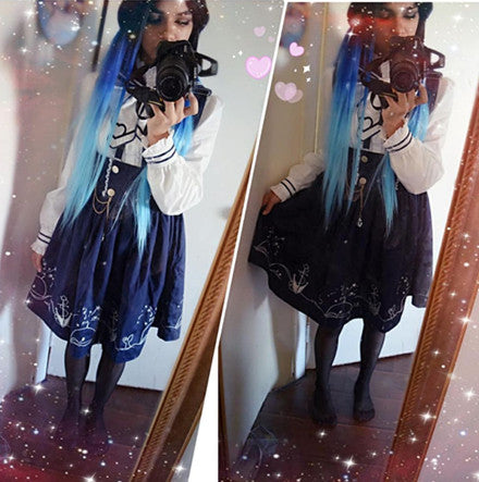 Review for harajuku high waist dress yv1129