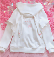 Kawaii Bunny Sweet Kiss With Long Ears Hoodie YV2376
