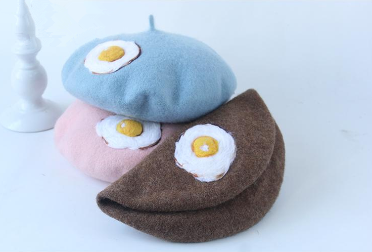 Fried egg creative beret YV2411
