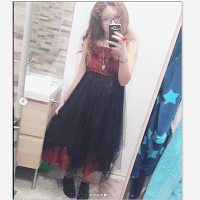 REVIEW FOR  BLACKRED RAGGED LOLITA TULLE SUSPENDER DRESS YV17001
