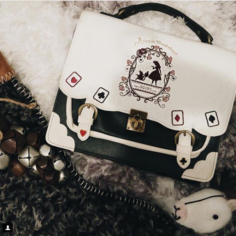 Review for Alice's poker gothic dark lolita bag lolita bags YV7031