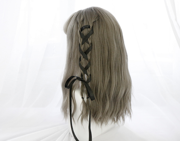 lolita fashion linen gray wig YV2451