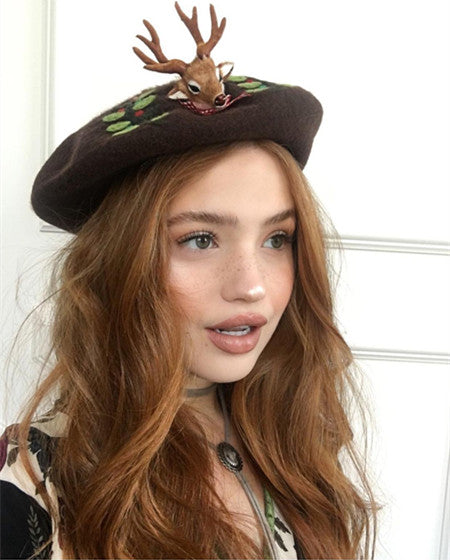 Handmade little deer beret YV5605