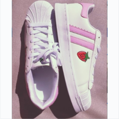 REVIEW STRAWBERRY PINK SHELL SNEAKERS YV2034