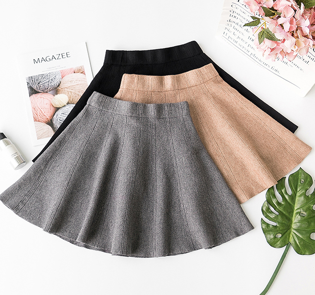 Harajuku Knit Pleated Skirt YV40736
