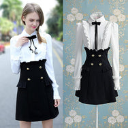 A long sleeve Sweet bow  dress  YV5045