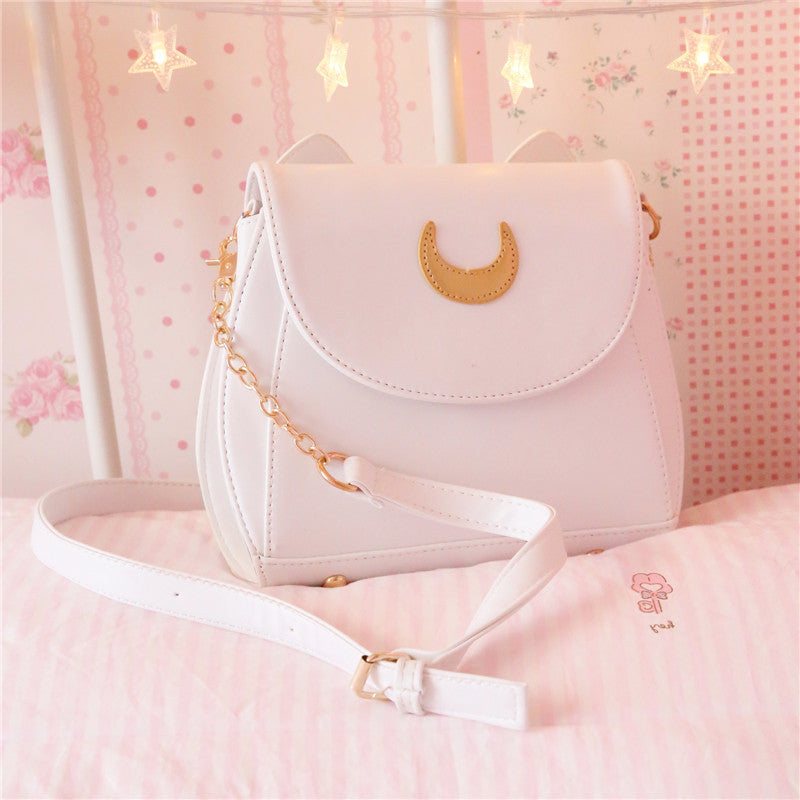 Cute Sailor Moon Luna Cat Ears  Shoulder  Bag YV301
