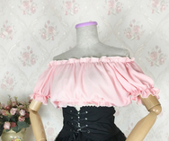 Sweet barbie lolita dew shoulder chiffon blouse  YV16098