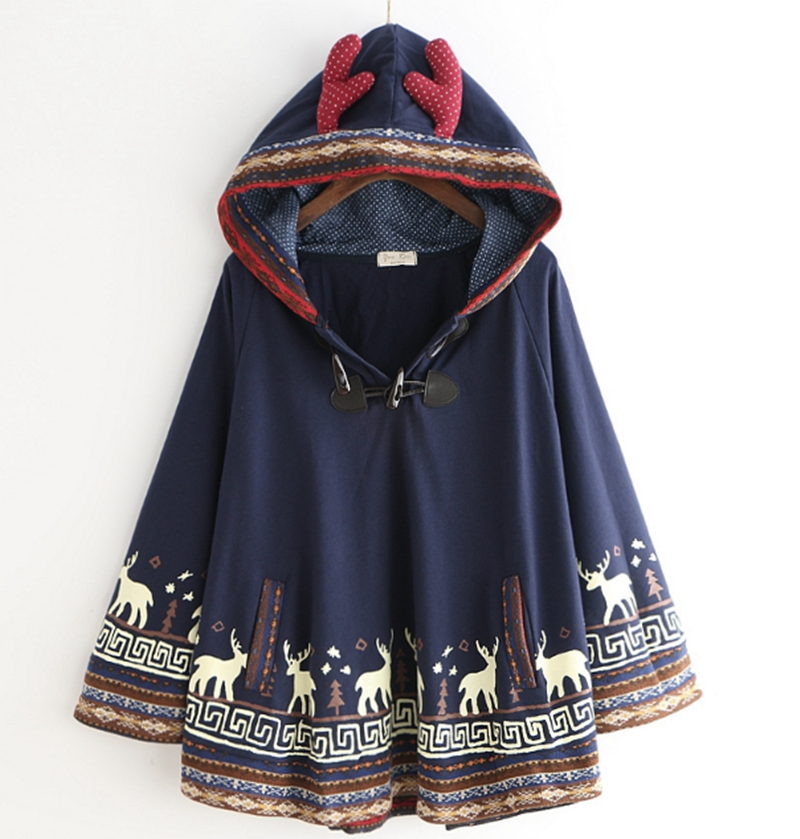 National wind elk embroidery cloak coat YV2342