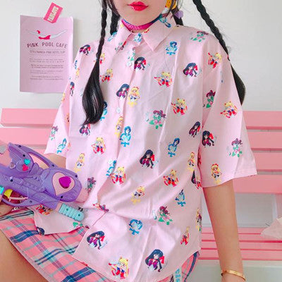Sailor moon anime blouse yv501