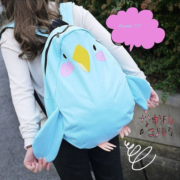 Parrot shaped kawaii backpack YV2188