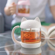 PinkGrey Kawaii Kitty Fish Mug YV2268