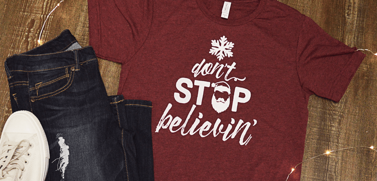 Don't Stop Believin' Holiday T-Shirt