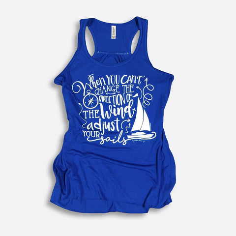 Adjust Your Sails Flowy Racerback Tank