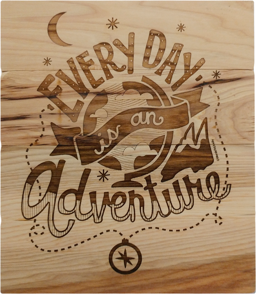 Adventure Wooden Sign