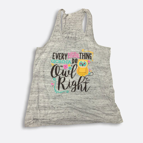 Owl Right Flowy Racerback Tank