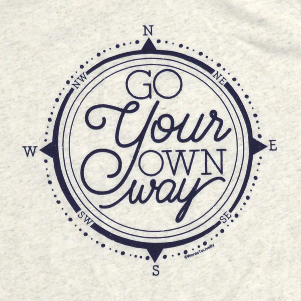 Oatmeal Go Your Own Way T-Shirt Close Up