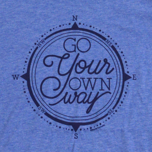 Blue Go Your Own Way T-Shirt Close Up