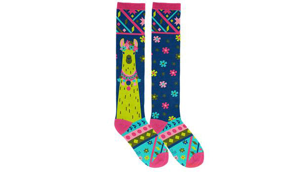 No Prob Llama Knee-High Socks