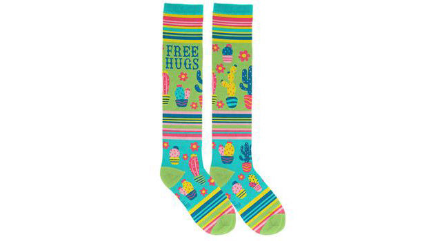 Free Hugs Cactus Knee-High Socks