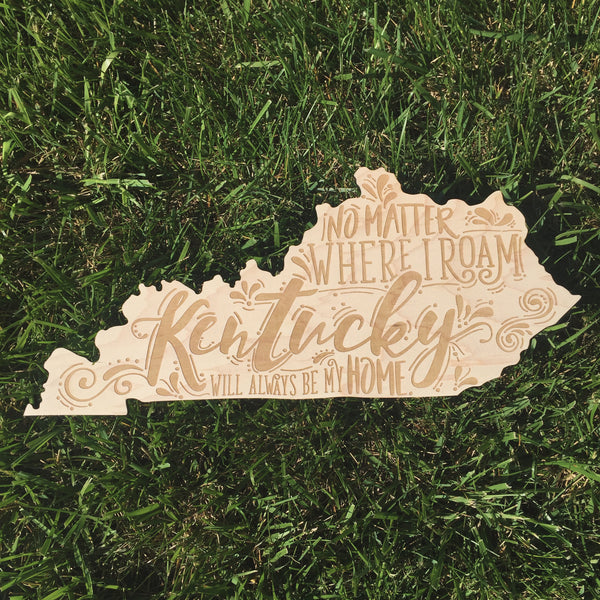 Natural Kentucky Wooden Sign