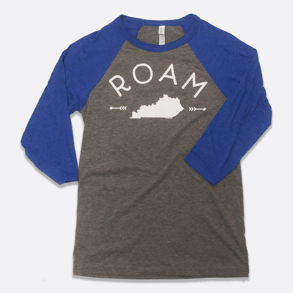 ROAM Kentucky 3/4-Sleeve Baseball T-Shirt
