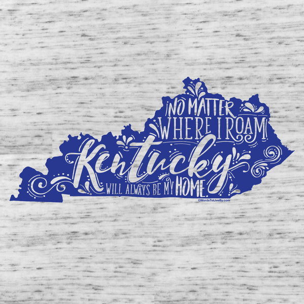 No Matter Where I Roam Kentucky Flowy Racerback Tank