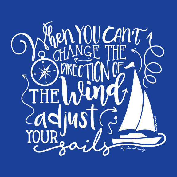 Adjust Your Sails Graphic T-Shirt Close up