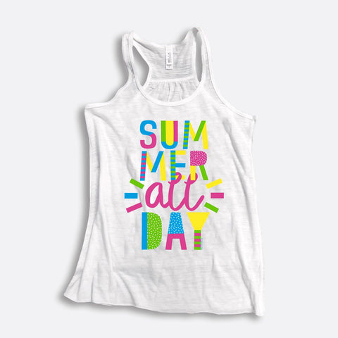 Summer All Day Flowy Racerback Tank