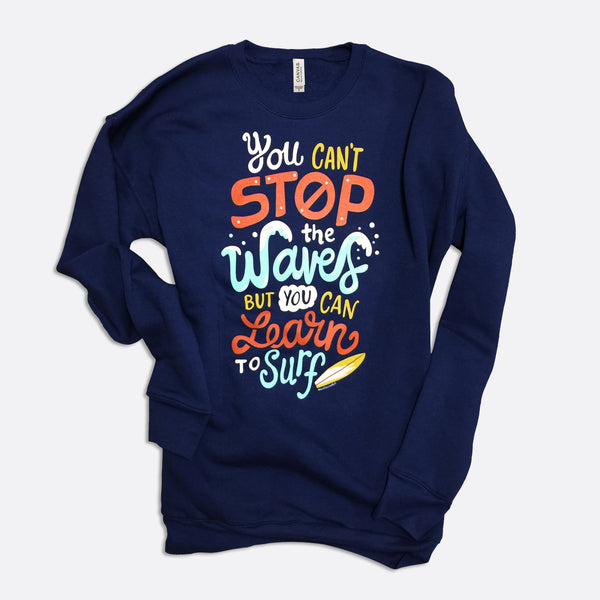 Learn to Surf Crew Neck Sweatshirt