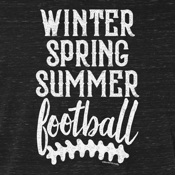 Winter Spring Summer Football Close Up