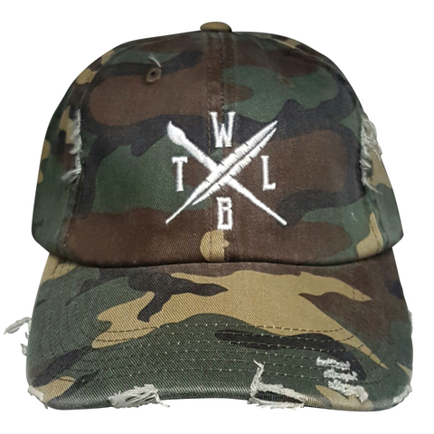 WTLB Arrow Logo Camo Hat Front