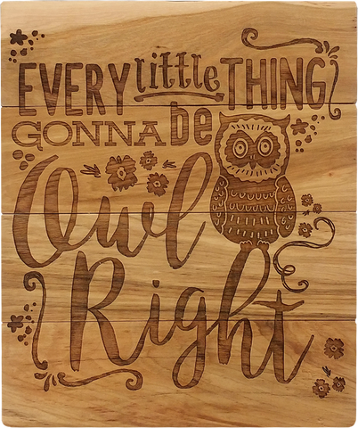 Owl Right Wooden Sign