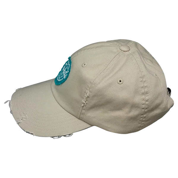 WTLB Distressed Logo Hat Stone Side