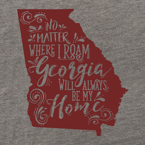 No Matter Where I Roam Georgia T-Shirt Close Up