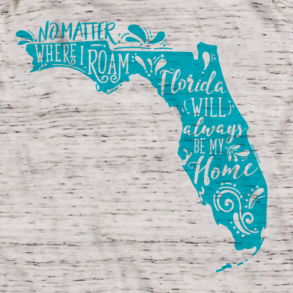 No Matter Where I Roam Florida Flowy Racerback Tank