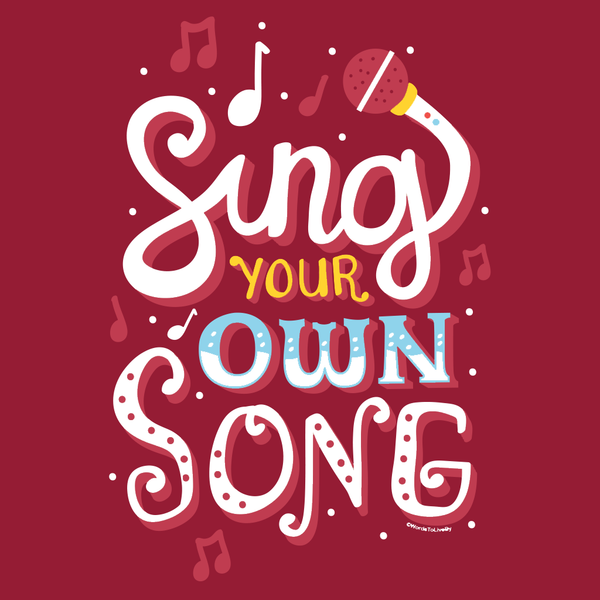 Sing Your Own Song Long-Sleeve T-Shirt Close Up